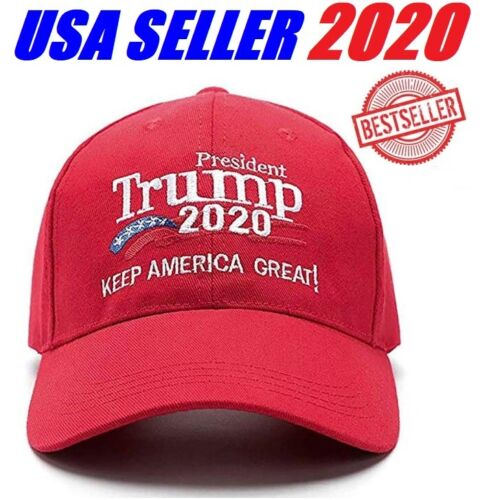 Donald Trump 2020 MAGA Embroidery Hat Keep Make America Great Again Cap USA Red