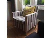IKEA Karlstadt Armchair with striped cover
