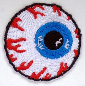 MISHKA-Eyeball-Logo-Iron-Sew-On-Patch-Applique-Skate-Snow-Board-Beanie    Eyeball Logo