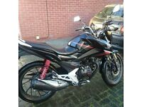 Honda CB125Fcc Motorbike (Low mileage) 1 owner