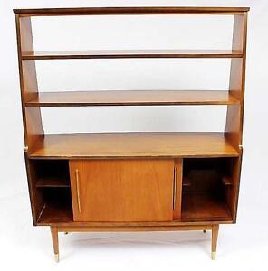 Vintage Teak Buffet with Shelves