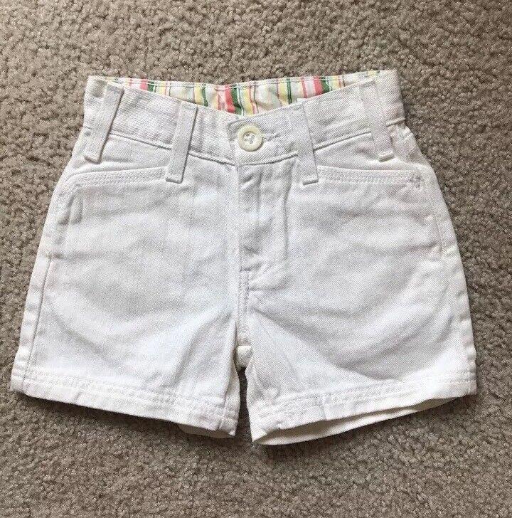 Levis Kids White Shorts Size 6