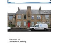 1 furnished double bedroom in City Centre flat in Stirling ***Video available at request***