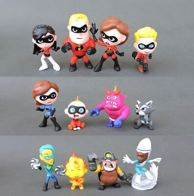The Incredibles Dash Violet Disney Playset 12 Figure Cake Topper Toy Doll Set - The Incredibles Violet