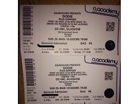 2 x dodie tickets O2 abc Glasgow 25th March