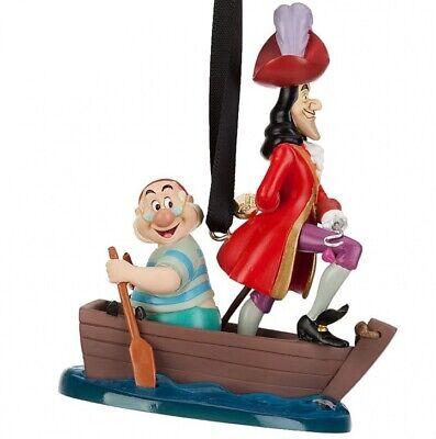 NEW 2019 Disney Store CAPTAIN HOOK & MR. SMEE Sketchbook Ornament NIB Peter Pan