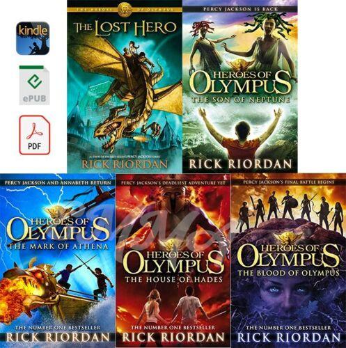 The Heroes of Olympus Series [1 - 5] FULLCOLLECTION by Rick Riordan (DIGITAL)
