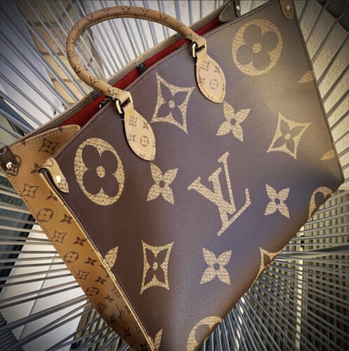 Louis Vuitton New Onthego Reverse Monogram Giant GM Tote Bag Authentic