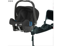 NEW Britax Baby Safe Plus SHR II Group 0+ Car Seat-Cosmos Black (New) + ISOFIX BASE: £150