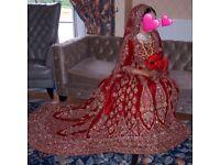 Asian Indian Pakistani Bridal Wedding Dress Lengha Anarkali