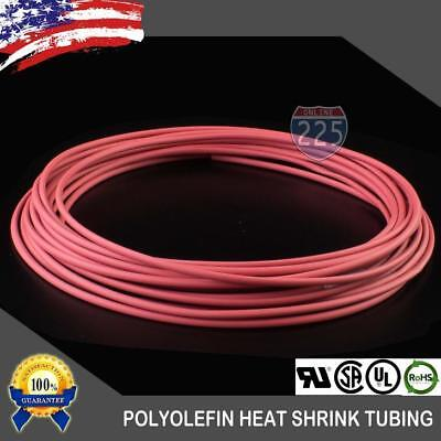 25 Ft. 25 Feet Red 18 3mm Polyolefin 21 Heat Shrink Tubing Tube Cable Us