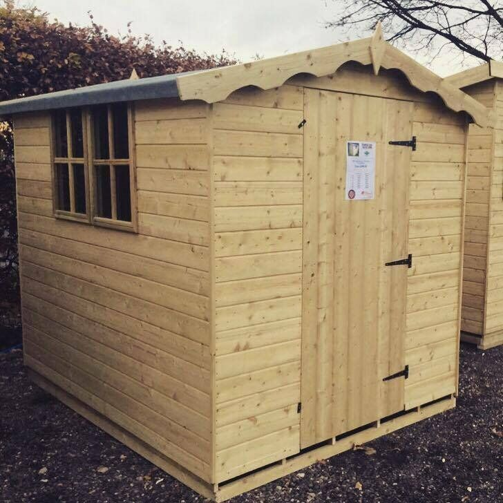8x10 victorian apex tanalisedin Lutterworth, LeicestershireGumtree - Victorian apex sheds available from Timberland sheds. Prices include delivery only. Professional fitting for only £39.99. 12mm T G tantalised timber Available in other sizes. Please call 01482588776