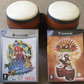 Nintendo GameCube Games + DK Bongos Controller