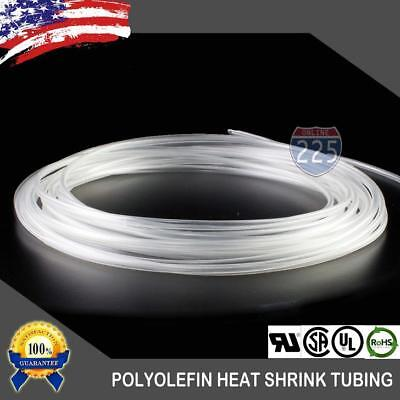 50 Ft. 50 Feet Clear 18 3mm Polyolefin 21 Heat Shrink Tubing Tube Cable Us