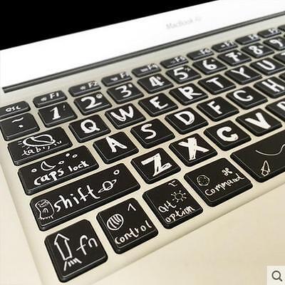 Macbook Air Pro Vinyl Sticker Decal keyboard Creative Style Button Stickers 13''