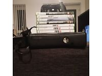 Xbox 360 Console - includes controller, power lead and seven games
