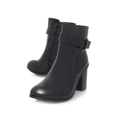 CARVELA BLACK BOOTS / LEATHER / ANKLE / UK 4   EU 37 / DISCOUNT IN STORE - Discount Party Store