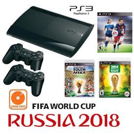 PS3 Super Slim 500GB HDD FIFA WORLD CUP Edition Bundle