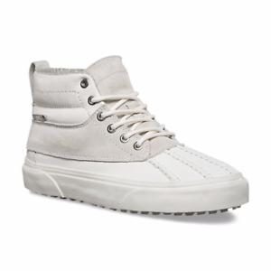 7f73a80700b6d8 VANS Sk8 Hi Del Pato MTE Mens White Leather High Top Lace up ...