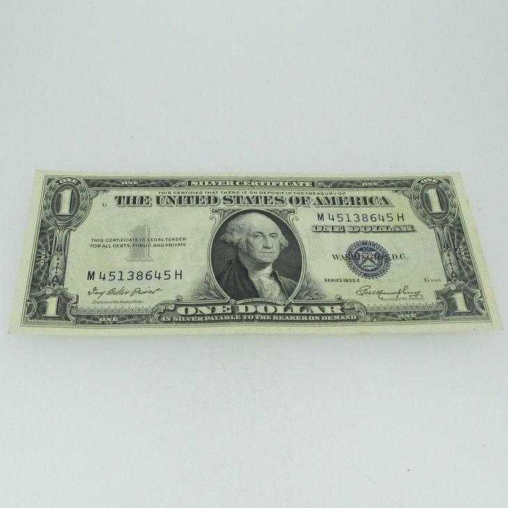 1935 E Silver Certificate United States 1 Dollar Bill One Dollar 600712