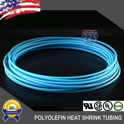 25 Ft. 25 Feet Blue 18 3mm Polyolefin 21 Heat Shrink Tubing Tube Cable Us Ul