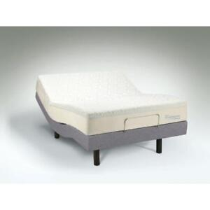 PowerBase Adjustable Bed with Memory Foam Mattress (Twin)