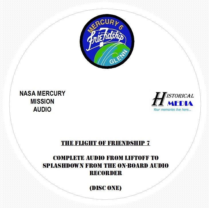 NASA SPACE AUDIO - Mission Audio From Friendship 7 (6 Audio CDs) JOHN GLENN