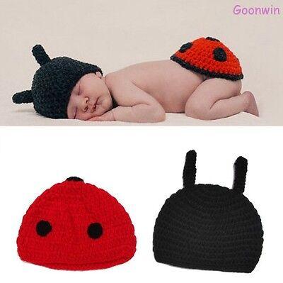 t Strick Fotoshooting Kostüm Marienkäfer Mütze Abdeckung (Neugeborene Marienkäfer Kostüm)