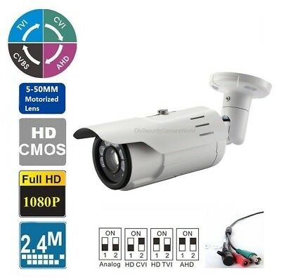 Long Range HDTVI 1080P IR Night Vision Bullet Outdoor Camera 5-50mm Up to -