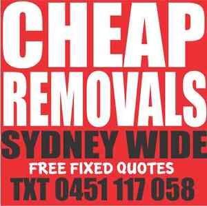 SYDNEY REMOVALIST - 1 MAN & VAN REMOVALS CHEAP - REMOVALISTS SYD Surry Hills Inner Sydney Preview