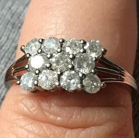 1 carat diamond white gold ring