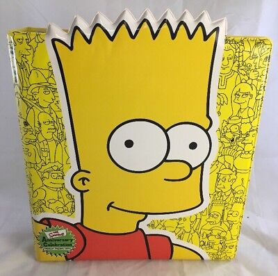 New The Simpsons Anniversary Celebration Bart Trading Card Binder Inkworks 2000