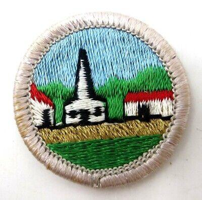Boy Scout Merit Badge - Type H Plastic Back - Citizenship in the (Boy Scout Merit Badge Citizenship In The Community)
