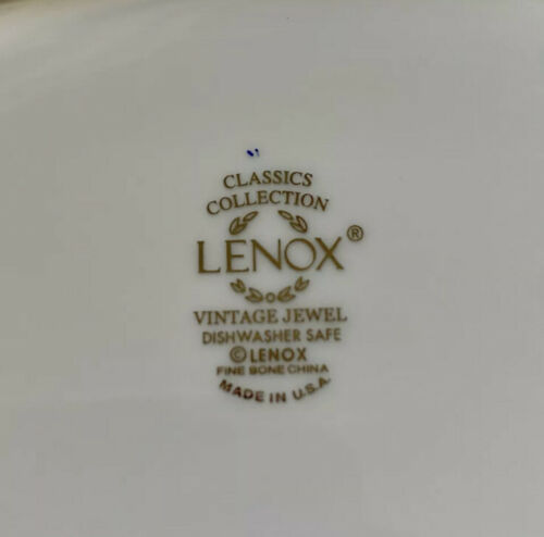 LENOX Vintage Jewel Collection. FINE CHINA Gravy Boat Plate NEW Made In USA - $75.00