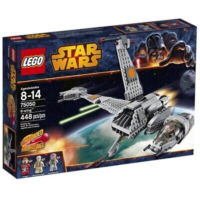 Lego Star Wars B-Wing 75050 with box, figures and manual