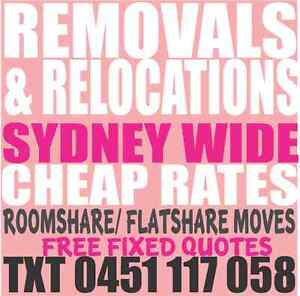 REMOVALS CHEAP & QUICK RELOCATIONS OF FREE ITEMS REMOVALIST Redfern Inner Sydney Preview