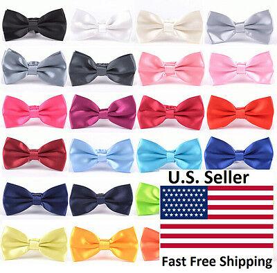 Classic 35-Color Fashion Men's Adjustable Tuxedo Bowtie Wedding Bow Tie Necktie