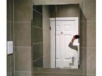 Bathroom Wall Cabinet Mirrored 2-door Brand new