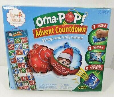 NEW Elf On The Shelf Orna-POP! Advent Countdown Calendar Ornaments Games 55 PCS