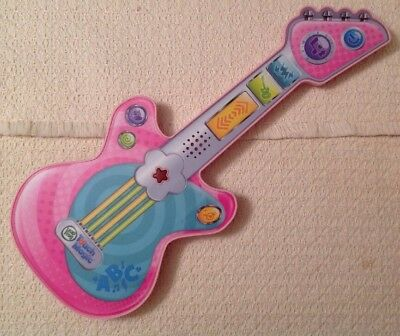 Leap Frog Touch Magic Pink Rockin Guitar   Customizable  No Guitar Strap