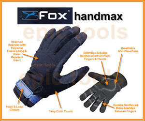 FOX-Handmax Size LARGE (L/9) Waterproof Breathable Thermal Warm Work Gloves
