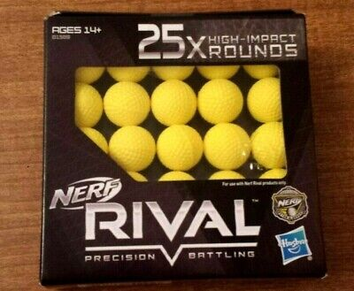Nerf Rival 25X High-Impact Rounds Balls Rival Precision Battling (New)
