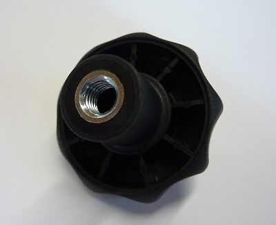 PECO POLYMET Sterngriffmutter M8 GF 30 Schwarz