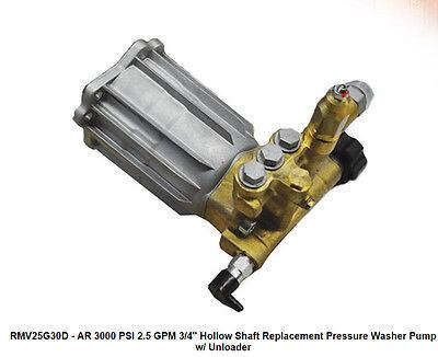 Pressure Washer Pump - Ar Rmv25g30d - 2.5 Gpm - 3000 Psi - 34 Shaft