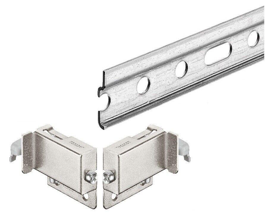 Easy To Install 2x Practa Solutions TEA TOWEL RAILS 300mm Steel Chrome Finish