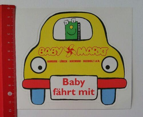 Aufkleber/Sticker: Baby Markt - Baby fährt mit (13041754)