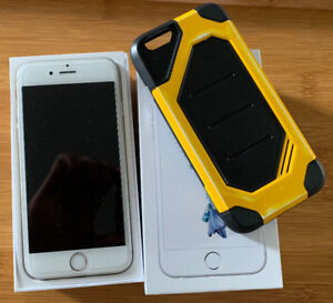 iPhone 6s 16Gb Silver LNIB with Shockproof cover.