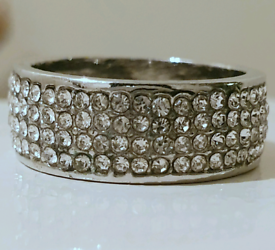 Silver Iced Out Ring Size 8 (18.5mm)