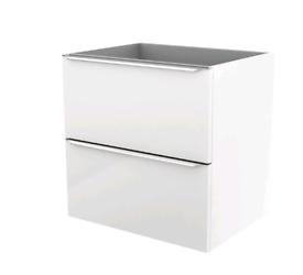 Imandra Gloss White Wall-mounted Vanity & basin Cabinet (W)600mm (H)60