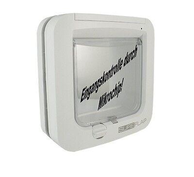Sureflap Mikrochip Katzenklappe - Microchip Eingangskontrolle - Weiß